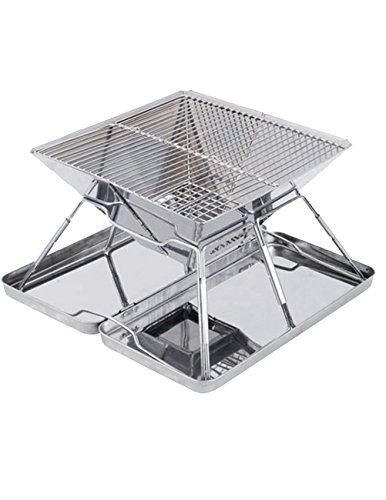 Bbq Giant Silver Trailer (Menschwear Stainless Steel Camp Grill 12.2