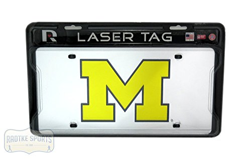Michigan Wolverines Officially Licensed NCAA Mirror Laser Tag License Plate