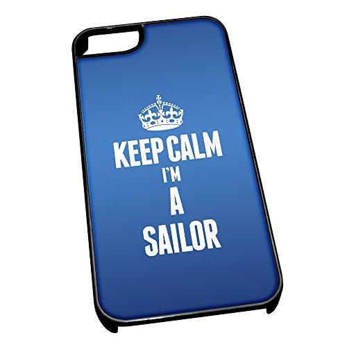 Nero cover per iPhone 5/5S blu 2669Keep Calm I m A Sailor