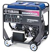 Yamaha EF12000DE 12,000 Watt 635cc OHV 4-Stroke Gas Powered Portable Generator With Electric Start