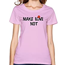 L572 Makelovenot T-Shirts For Womens Pink