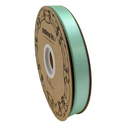 Mint Green Satin Fabric Ribbon - 5/8