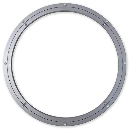 Medium-Duty (MD) Aluminum Lazy Susan Ring/Turntable with Single-Row Ball Bearings for Medium Loads, 24-Inch