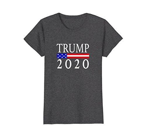 Womens Trump 2020 Shirt Medium Dark (Vote Womens Cap Sleeve T-shirt)