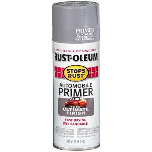 Rust-Oleum 2089830 Stops Rust Automotive Primer Spray Paint, 12 oz, Flat Dark Gray