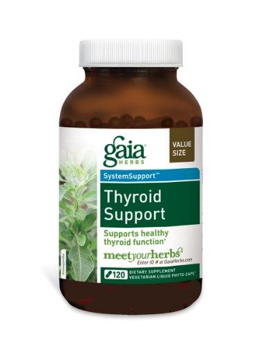 Soutien de la thyroïde Gaia Herbs, 120-capsule de bouteille