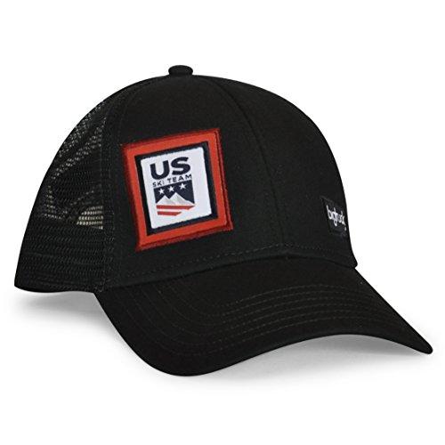 bigtruck U.S. Ski Team Classic Trucker Hat, Black, Adult