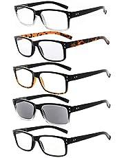 Eyekepper 5 stuks klassieke veren-scharnier leesbril +2.00