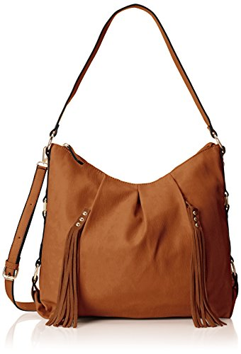 MG Collection Cecilia Tassel Hobo Shoulder Bag Brown One Size
