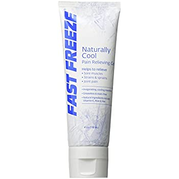Fast Freeze All-Natural Cooling Pain Relief Therapy: Gel Tube, 4 fl oz