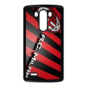 LG G3 Cell Phone Case Black 3D Milan Logo Wallpaper V1B2SJ
