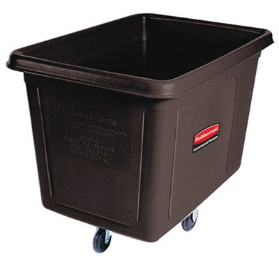 RCP4608BLA - Black Laundry Waste Collection Cube Truck, 300lb