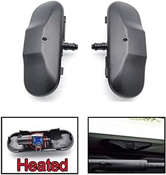 Par de boquillas para limpiaparabrisas delantero con calefacción para A1 8X A4 B8 Q3 Q5 Q7 4L TT 2011 2012 2013 2014: Amazon.es: Coche y moto