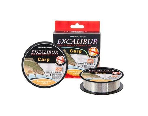 Energo Team Excalibur Fluoro Carbon Coated 200m 0,30mm Schnur Angelschnur Angelsehne Monofile Schnur Mono Schnur Fluorocarbon Karpfenschnur