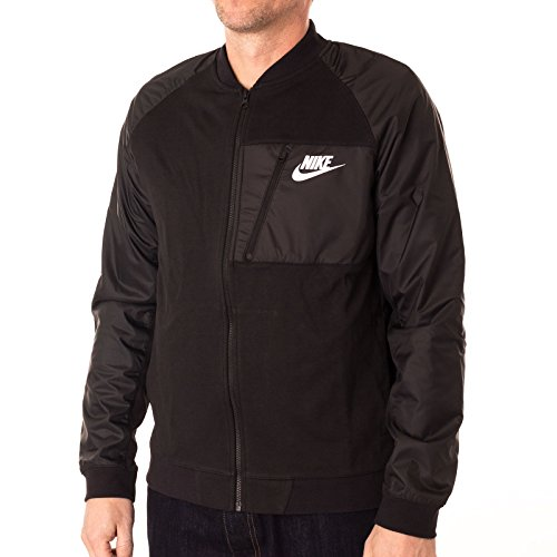 Nike Mens Advance 15 Fleece Full-Zip Jacket Black/Heather/White (XX-Large) 846878-010