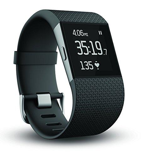Fitbit Surge Fitness Superwatch, Black, Small (US Version) (Renewed)