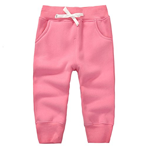 CuteOn Unisex Kids Cotton Elastic Waist Winter Baby Pants Various Colors (Baby Fleece Pant)