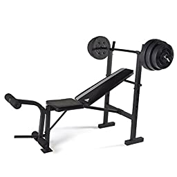 adidas Combo Training Bench with Weight Set, 100 lb