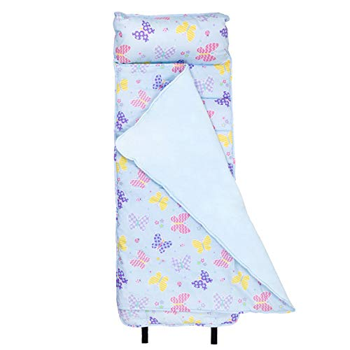 Toddler Olive Bedding Kids - Wildkin Nap Mat, Butterfly Garden