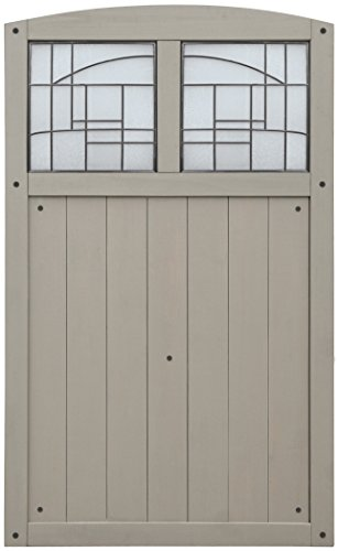 (Yardistry YP11800 Gate with Faux Glass Inserts, 42