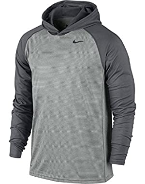Mens Dri-Fit Touch Hooded Long Sleeve Shirt