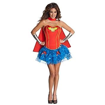 Nuevas señoras azul y rojo Wonder-woman estilo sin tirantes Hero ...