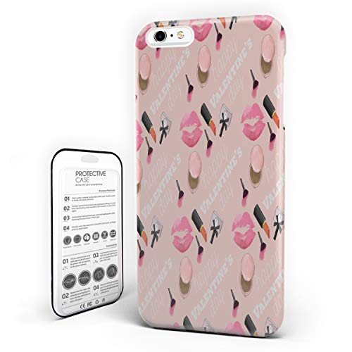 iPhone 6 Plus Case/iPhone 6s Plus Case Hard Plastic PC Ultra Thin Protective Phone Case Cover Compatible iPhone 6 Plus/6s Plus(5.5 inch) Cosmetic and Make Up Theme with Perfume and Lipstick ()