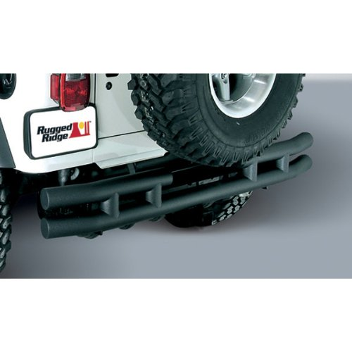 Rugged-Ridge-1157103-Textured-Black-Rear-Tube-Bumper