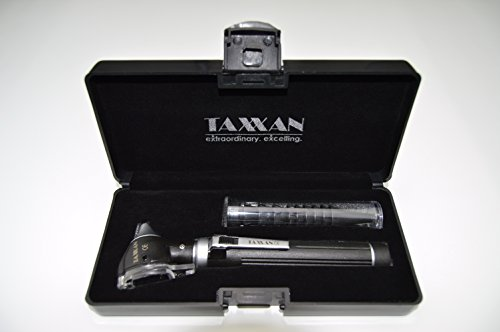 TAXXAN LED POCKET OTOSCOPE SET EAR, NOSE, THROAT DIAGNOSTIC KIT WITH ADULT, CHILD, INFANT REUSABLE 4 SIZES SPECULA TIPS & TONGUE DEPRESSOR