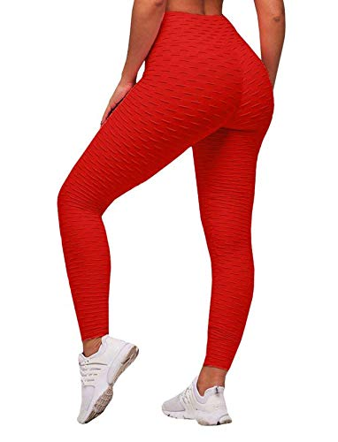 SEASUM Women's High Waist Yoga Pants Tummy Control Slimming Booty Leggings Workout Running Butt Lift Tights XL (Best Way To Work Out Buttocks)