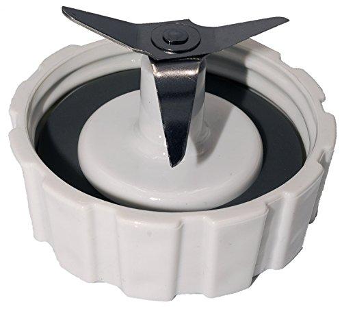 Blender Beach Jar Replacement Hamilton (BLENDIN 001 Replacement Base Compatible with Hamilton Beach Blender-Blade with Bottom Cap and Rubber Sealing Gasket, White)