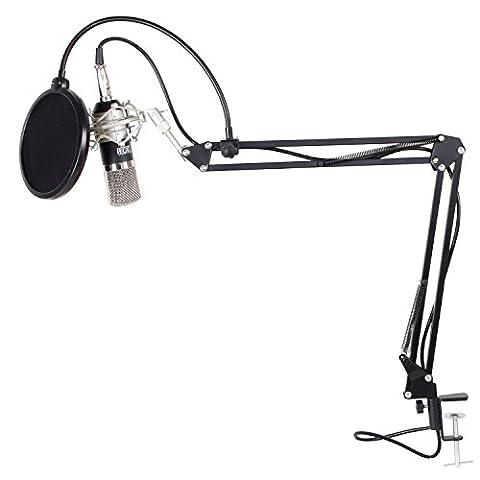 TONOR Professional 3.5mm XLR Condenser Microphone Kit Broadcasting Recording Studio Microphone for ComputerRecording Condenser with (Le Studio)