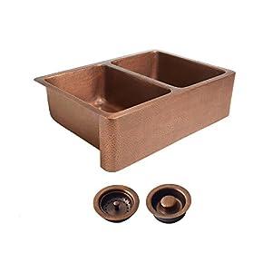 41GVs3Z7ZeL._SS300_ Copper Farmhouse Sinks & Copper Apron Sinks