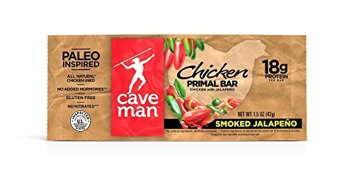 Caveman Foods Chicken Primal Bars Smoked Jalapeno 12 15 oz bars per box a  2PC  3PC