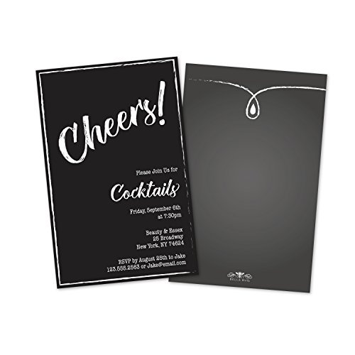 Personalized Cheers Cocktail Party - Personalized Cocktails Invitations