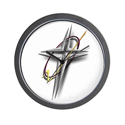 CafePress - THE CROSS EMBLEM/FAITH WEAR GEAR Wall Clock - Unique Decorative 10'' Wall Clock by CafePress
