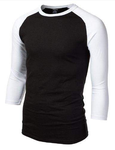 9XIS Men's 3/4 Sleeve Raglan T-Shirt