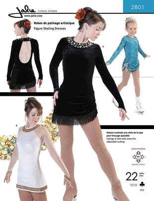 Costumes For Figure Skating (Jalie Figure Skating Dress with Adjustable Ruching Costume Sewing Pattern 2801)