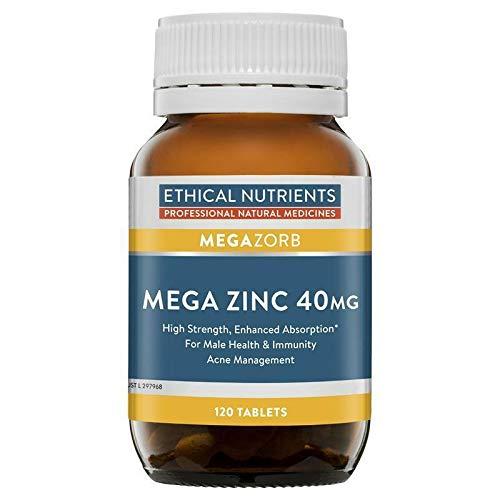 Ethical Nutrients MEGAZORB Mega Zinc 40mg 120 Tablets