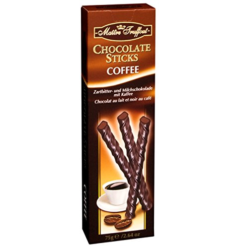 Chocolate coffee sticks in 75g pack from Maître Truffout
