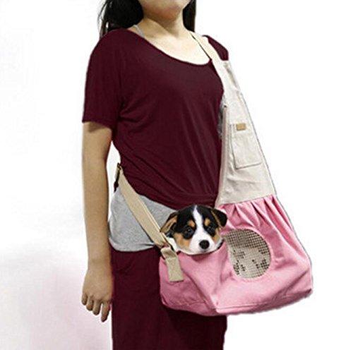 Ylen Pequeño Perro Gato Mascotas Portador de Viaje Transporte Lona Bolsa de Hombro para Perrito Gatito Animales: Amazon.es: Productos para mascotas