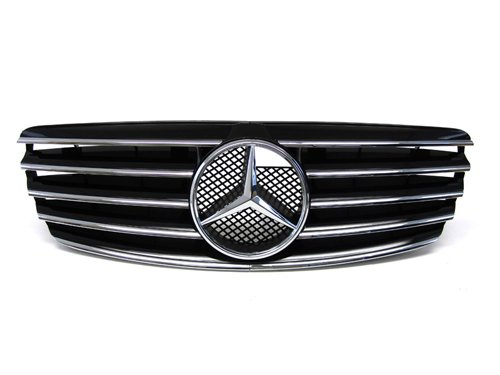 03-06 Mercedes Benz W211 E-class CL Style Replacement Front Grille Black 04