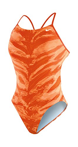 Nike Cut Out Tank - NIKE Swim Female Electric Anomaly Cut-Out Tank,Team Orange (845),28