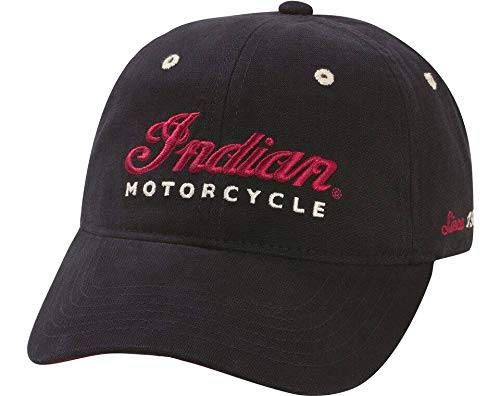 Indian Motorcycle Embroidered Hat, Black
