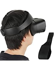 Esimen Adjustable Head Strap for Oculus Rift S VR Replacement Pad Strap, Increase Area Design Balance Weight, Relieve Face Squeeze (Black)