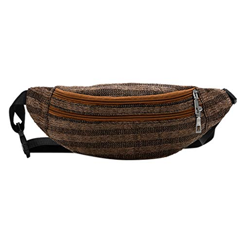 - Waist Bag for Women,Sunyastor 2019 Neutral Outdoor Weaving Zipper Stripe Messenger Bag Chest Bag Waist Bag
