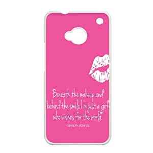 EVA Marilyn Monroe Quote HTC ONE M7 Case, Marilyn Monroe Quote Hard Plastic Protection Cover for HTC ONE M7 by mcsharks