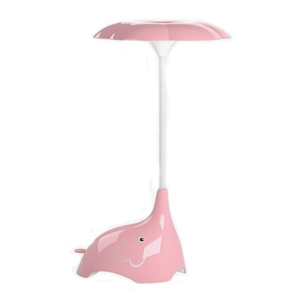Touch Tabelle Lampe Wiederaufladbare Nachtlicht Dimmbar Touchsensor mit 3 Helligkeitsstufen Buchlampe KEEDA LED Schreibtisch Lampe Elefant Blau