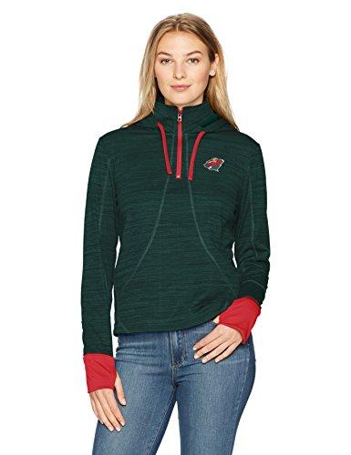NHL Minnesota Wild Adult Women NHL Women's Ots Annabelle 1/4-Zip Pullover Hoodie, Small, Dark Green ()