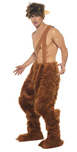 Smiffy's Men's Pan Costume, Brown, M - US Size 38